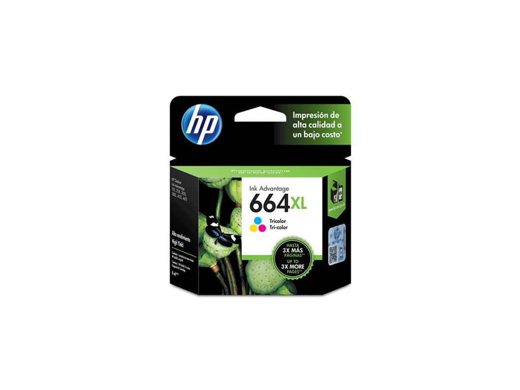 Cartucho de Tinta Original HP F6V30AL (664XL) Tricolor
