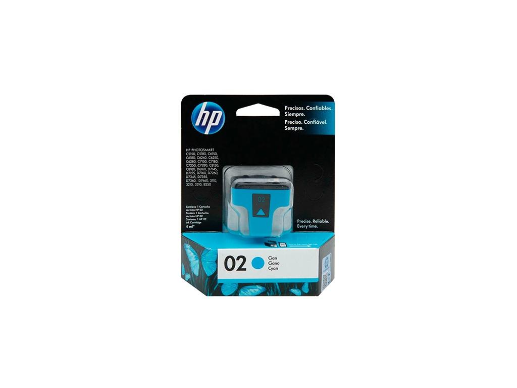 Cartucho de Tinta Original HP C8771WL (02) Cyan