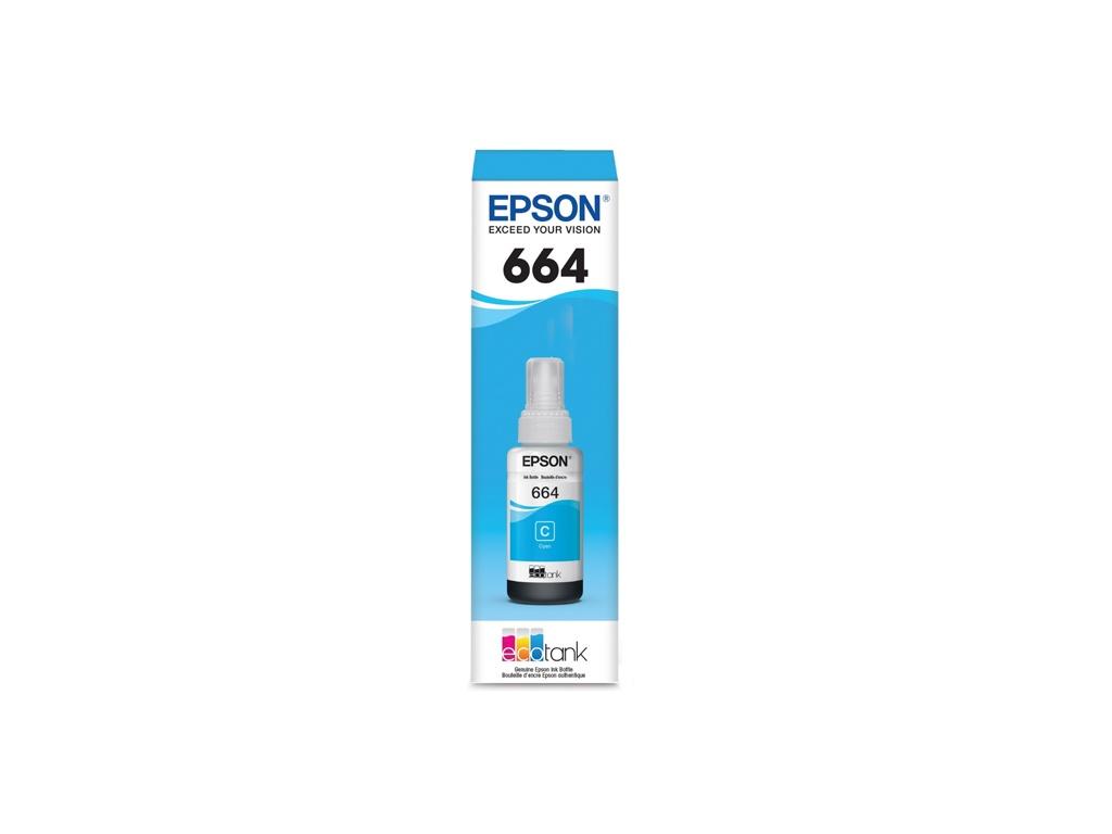 Botella de Tinta Original Epson T664220 Cyan
