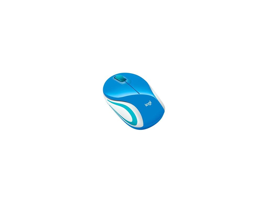 Mouse Logitech M187 Azul Inalámbrico