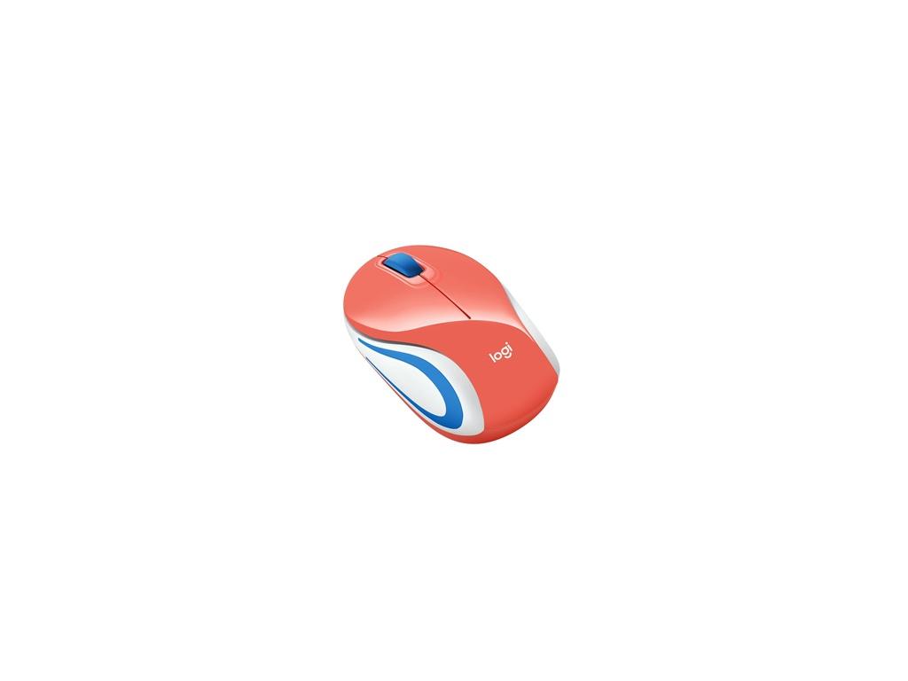 Mouse Logitech M187 Coral Inalámbrico