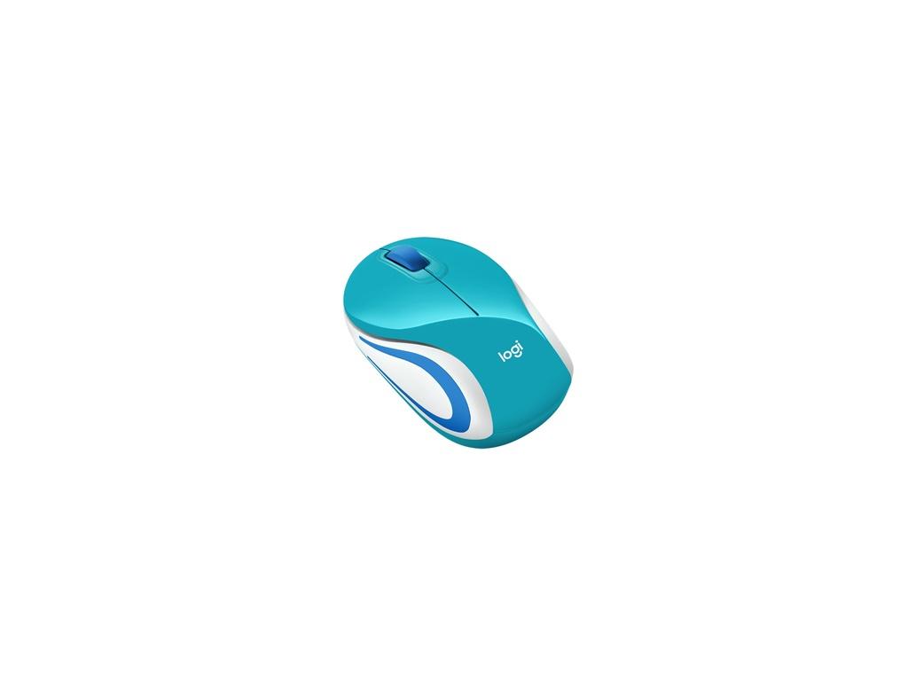 Mouse Logitech M187 Celeste Inalámbrico