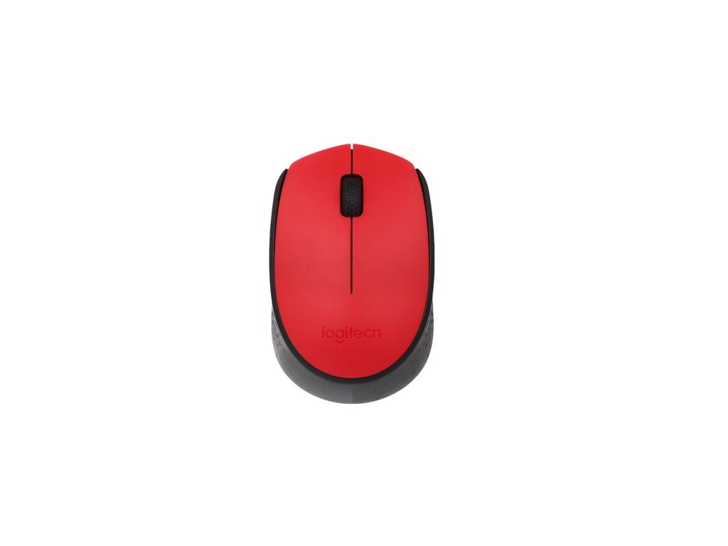 Mouse Logitech M170 Rojo Inalámbrico