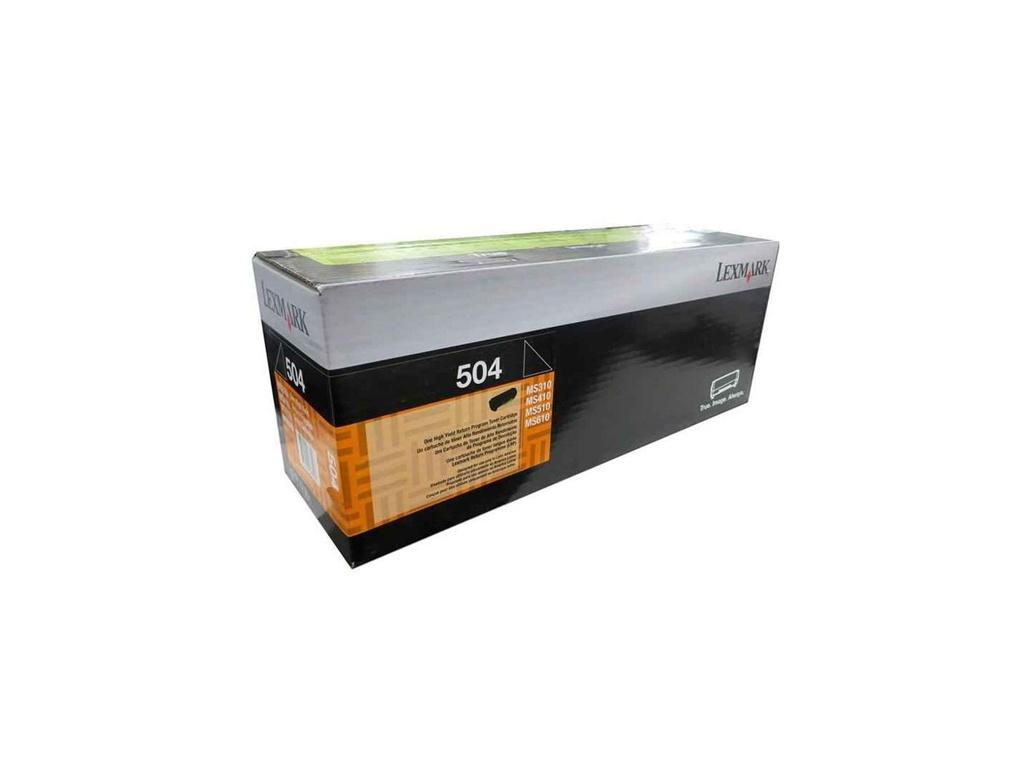 Toner Original Lexmark 50F4000 (504) Negro