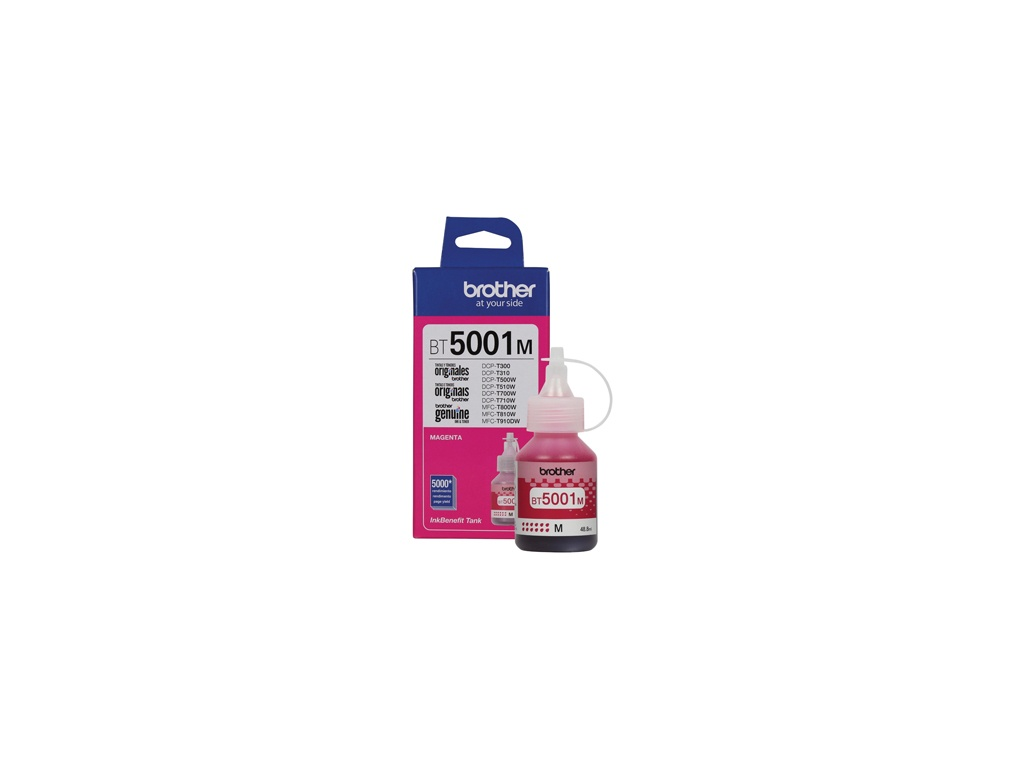 Botella de Tinta Brother Original BT-5001M Magenta