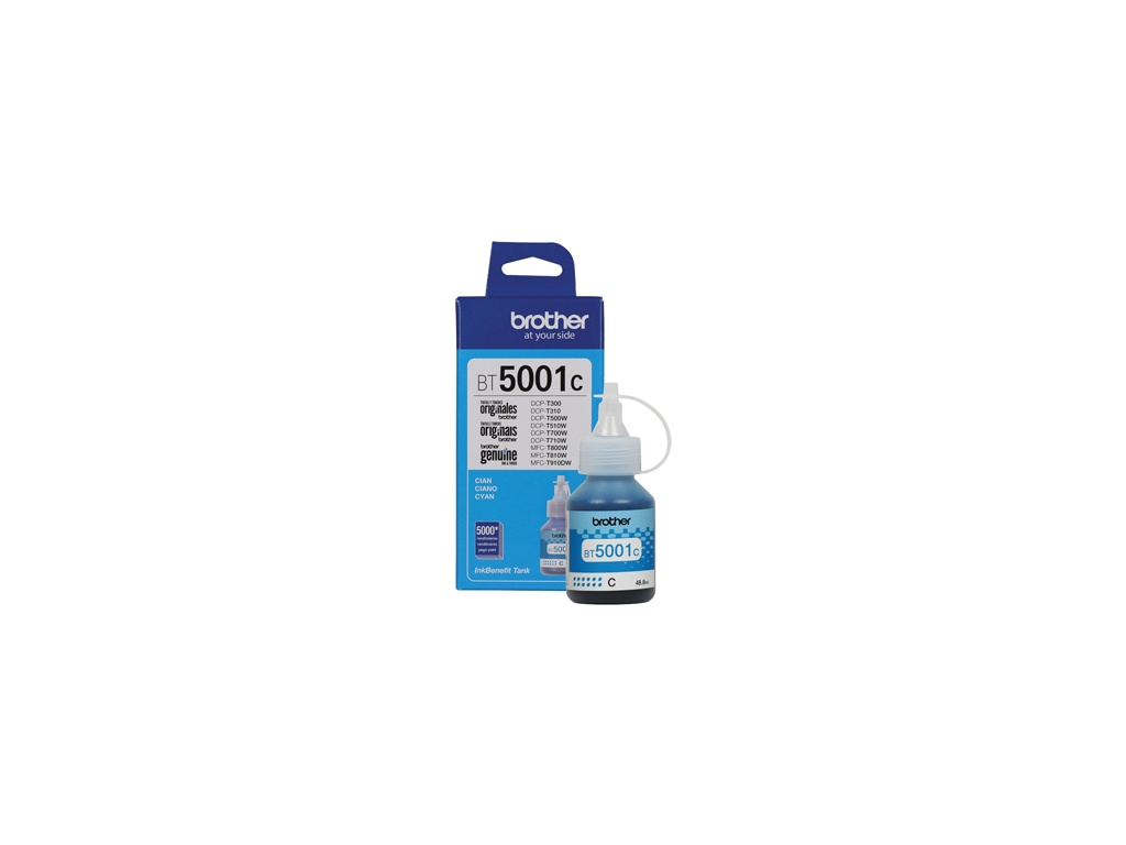 Botella de Tinta Brother Original BT-5001C Cyan
