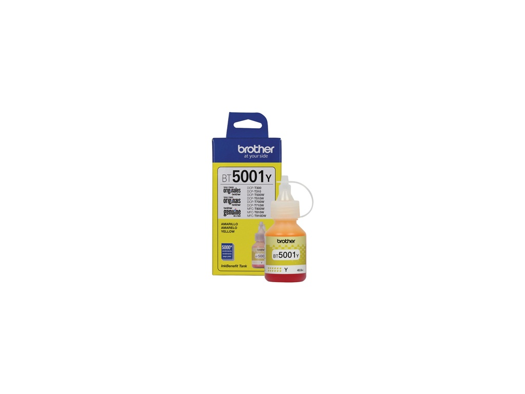 Botella de Tinta Brother Original BT-5001Y Amarillo