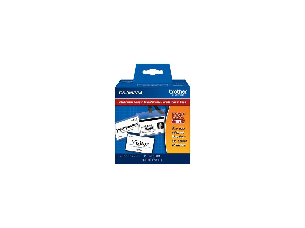 Etiquetas Brother DK-N5224 Rollo Contínuo de Papel de Impresión Térmica no Adhesivo