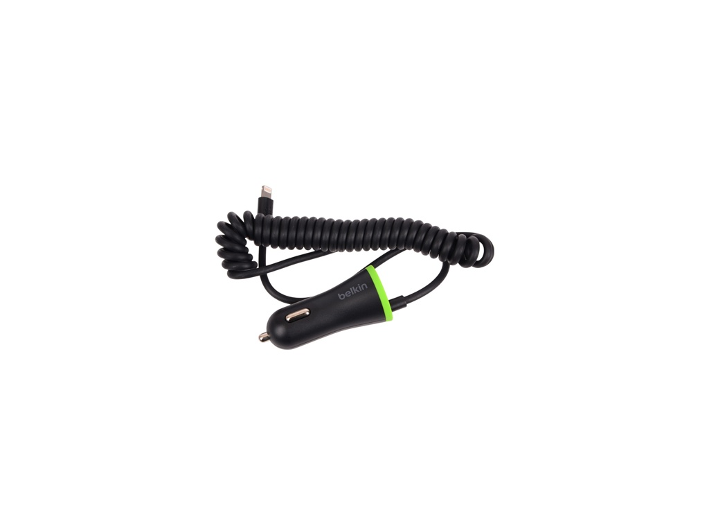 Cargador de Auto Belkin F8J154BT04-BLK Cable Integrado Ligthning USB 2.0