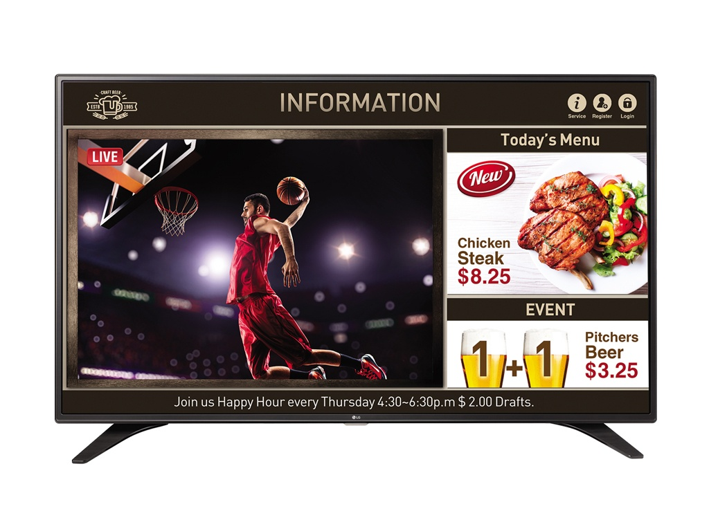 "TV LG LED FHD SUPERSING 55"" SMART SIGNAGE"