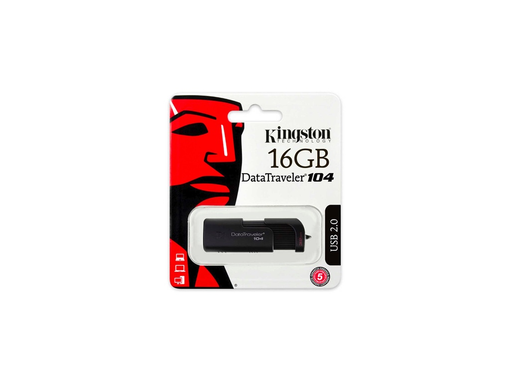 Pendrive Kingston USB DT104/16GB 2.0 DataTraveler 104