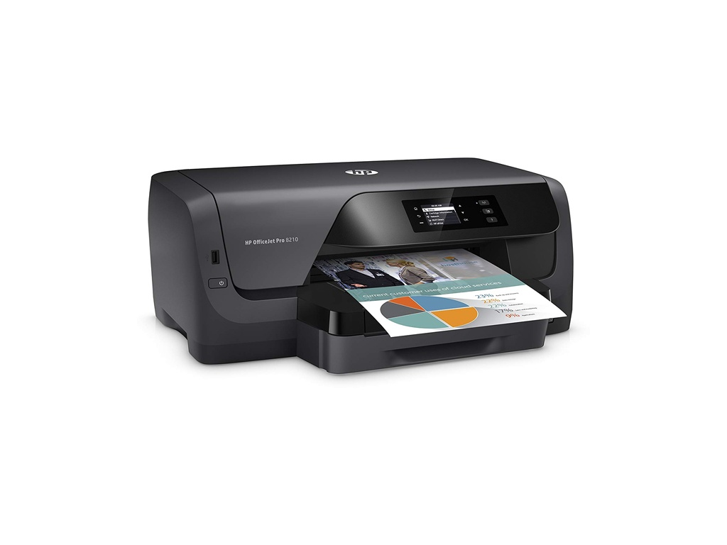 Impresora Chorro de Tinta HP Officejet Pro 8210 - color 4 tintas