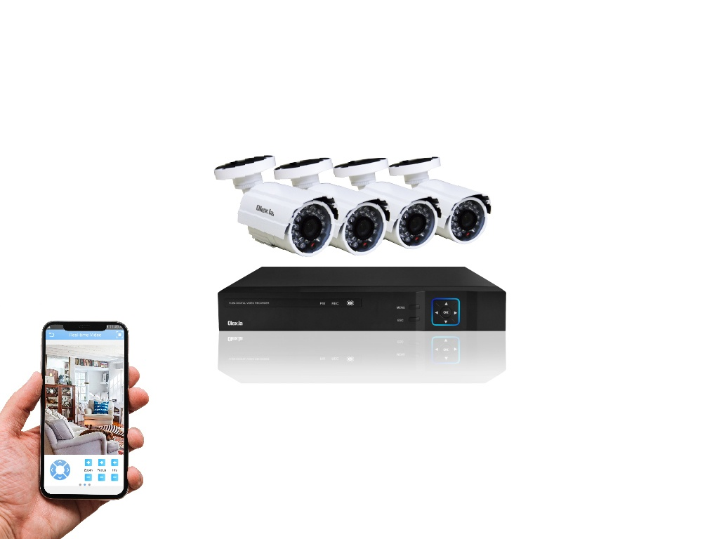 Kit Olex Seguridad de 4 Cámaras de Vigilancia