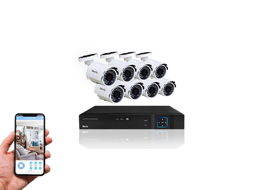 Kit Olex Seguridad de 8 Cámaras de Vigilancia