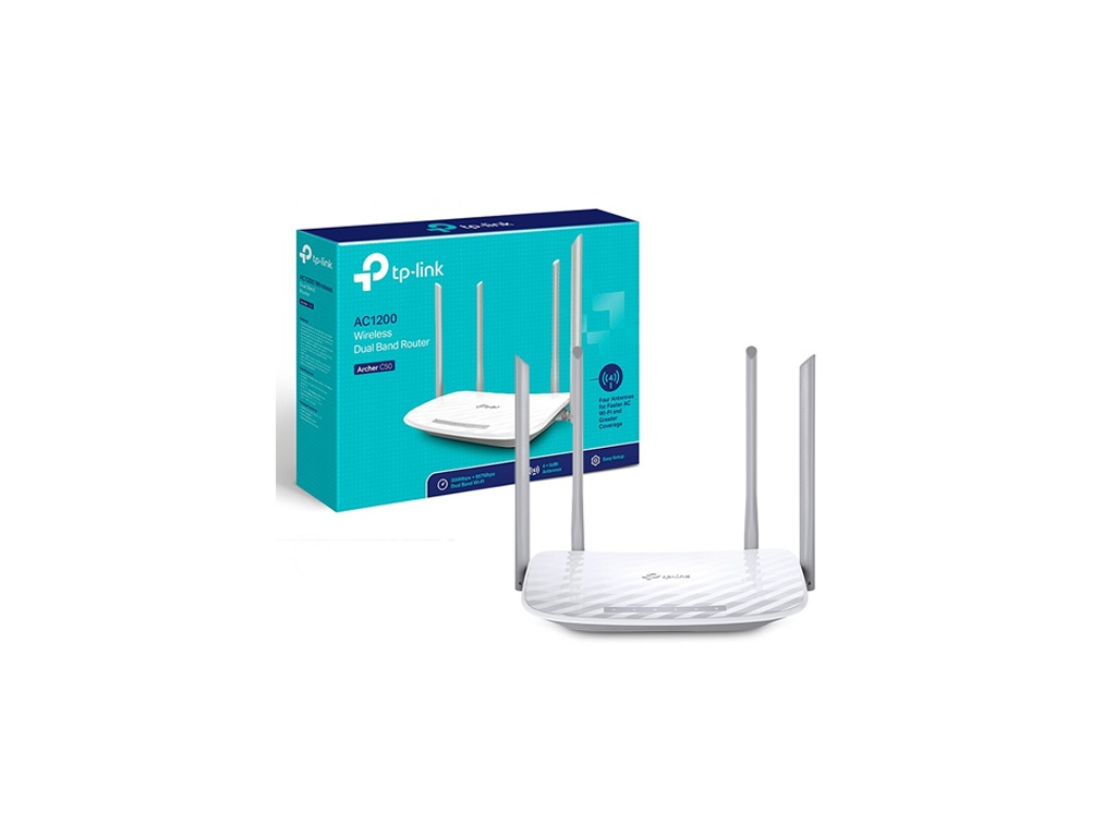 Router Wireless TP-LINK Archer C50 Dual Band AC1200 (867/300 Mbps)