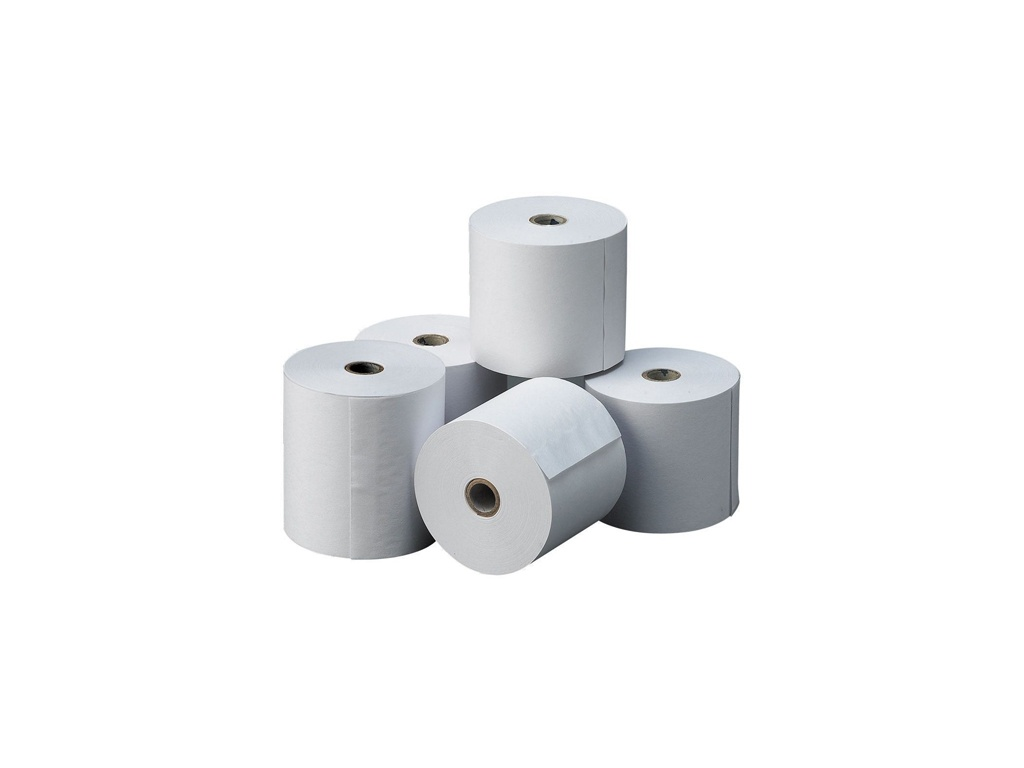 Papel Termico 80 x 80mm - Pack de 25 Rollos.