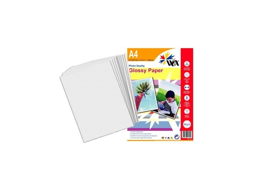 Papel Wox Glossy (PAP06) Fotografico A4