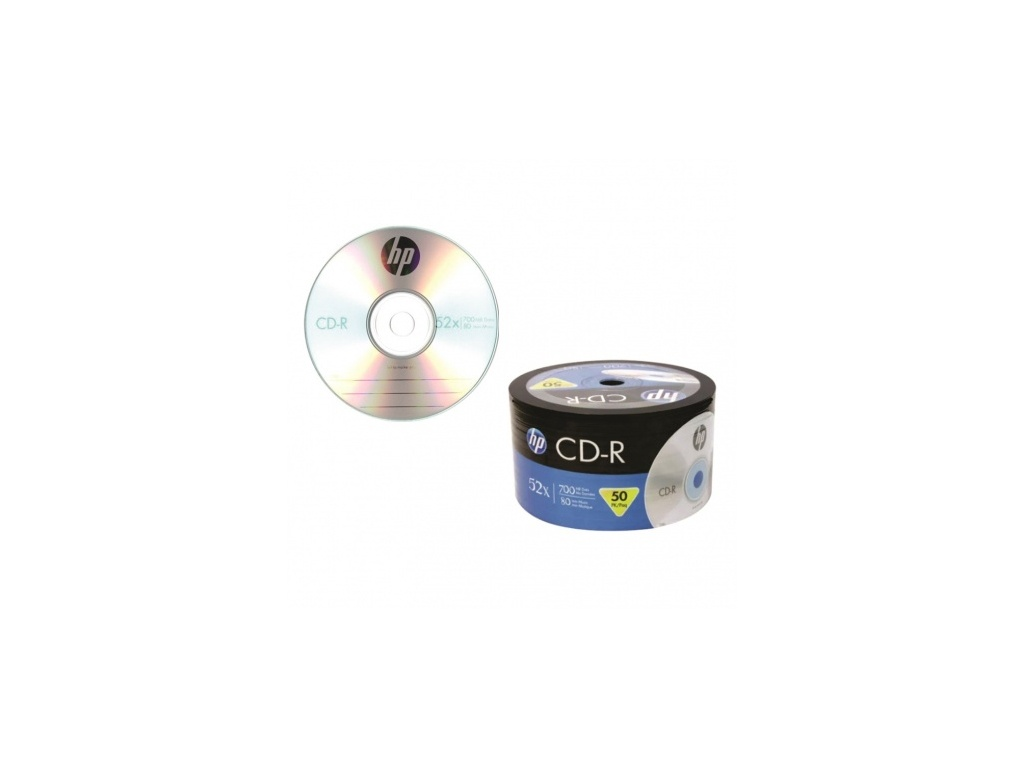 Medio optico HP CD-R 52x80 bulk x 50 unidades