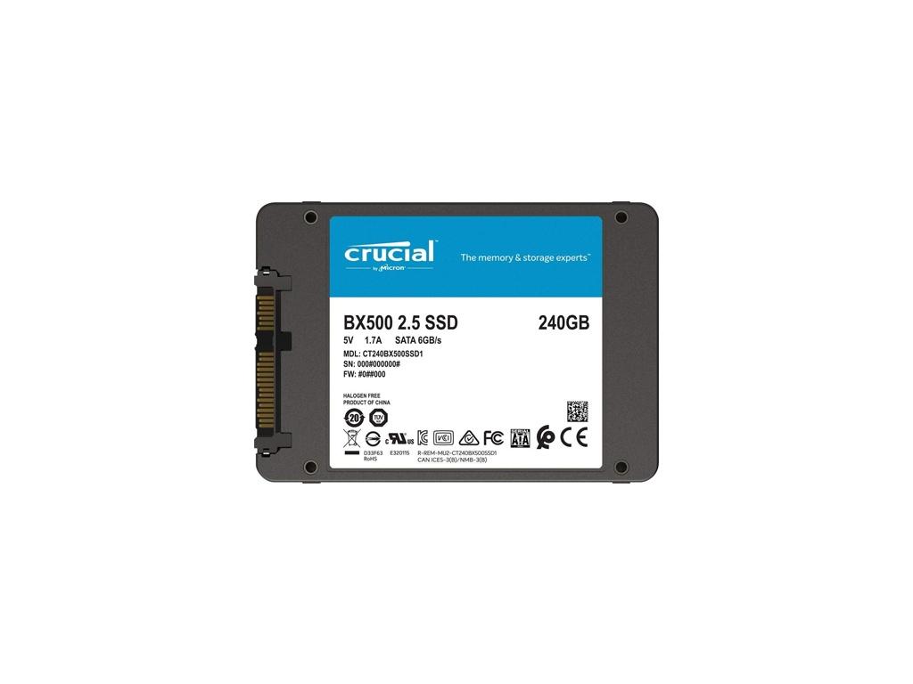"Disco Sólido SSD Crucial BX500 240gb Sata3 2.5"" (DSCBX5240G)"