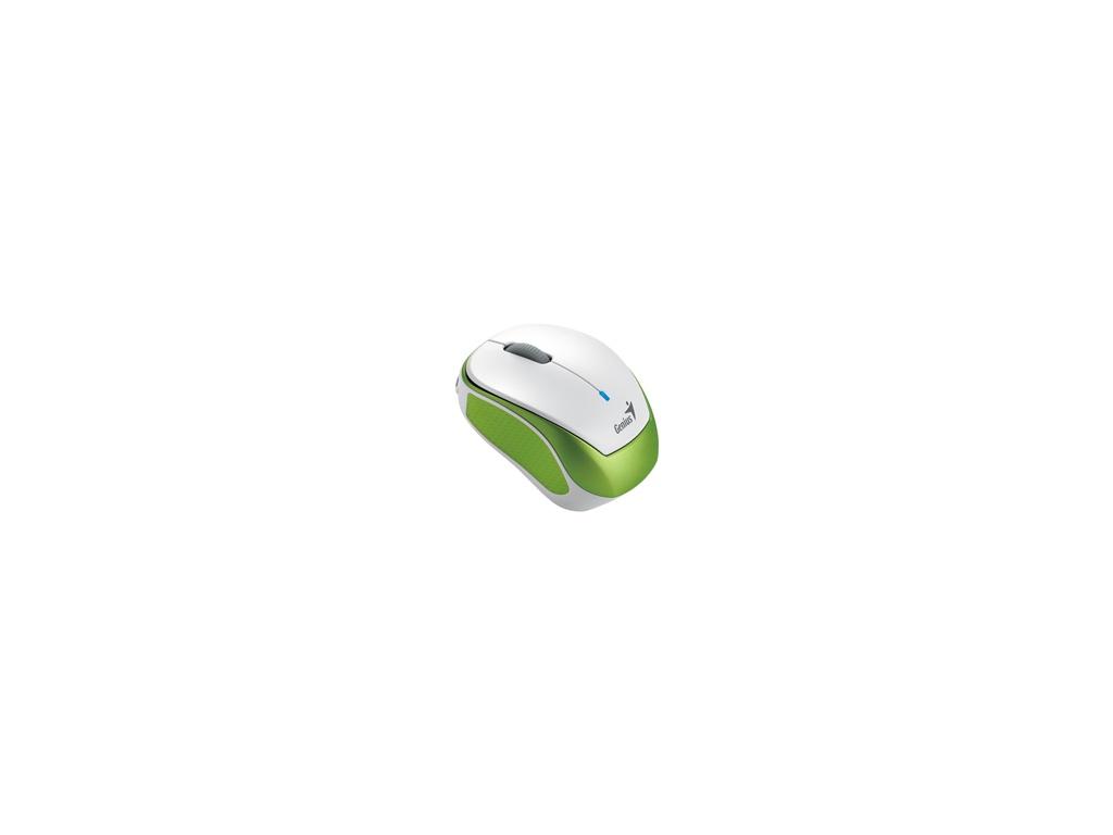 Mouse Genius Micro Traveler 9000R blanco y verde