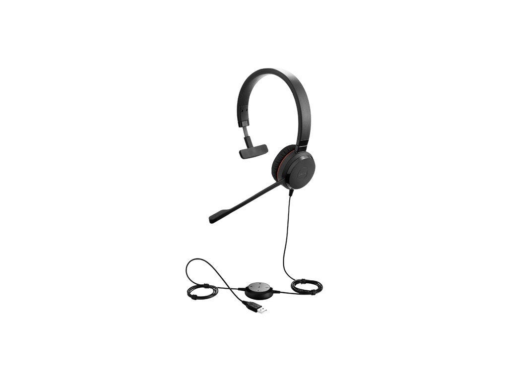 Vincha Jabra Evolve 30 Duo MS - Stereo UC headset with leatherettes. USB and 3,5 mm