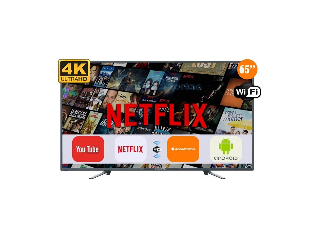 "Televisor 4K Smart Pantalla de 65"" Punktal PK-65TE"