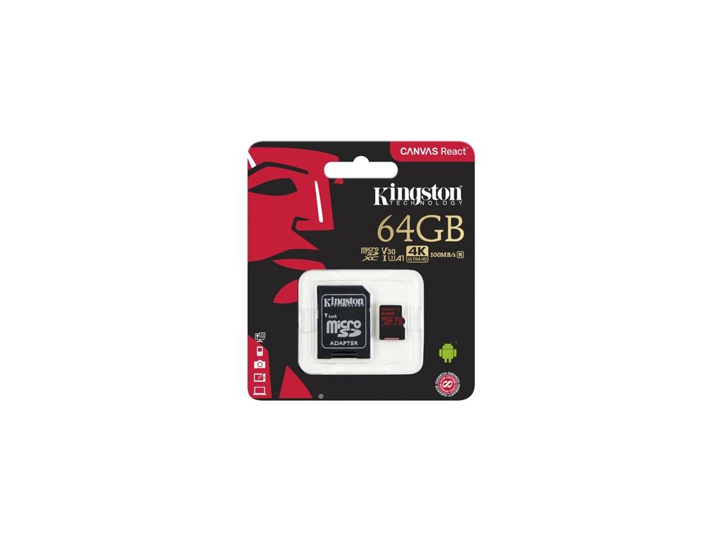 Memoria Kingston SDCR/64GB Micro SD de 64GB