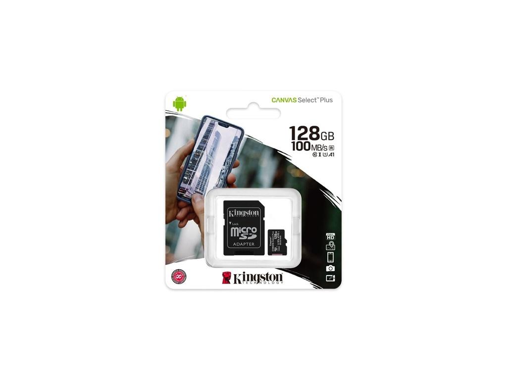 Memoria Kingston SDCS2/128GB microSDHC Canvas Select Plus 100R/85W.