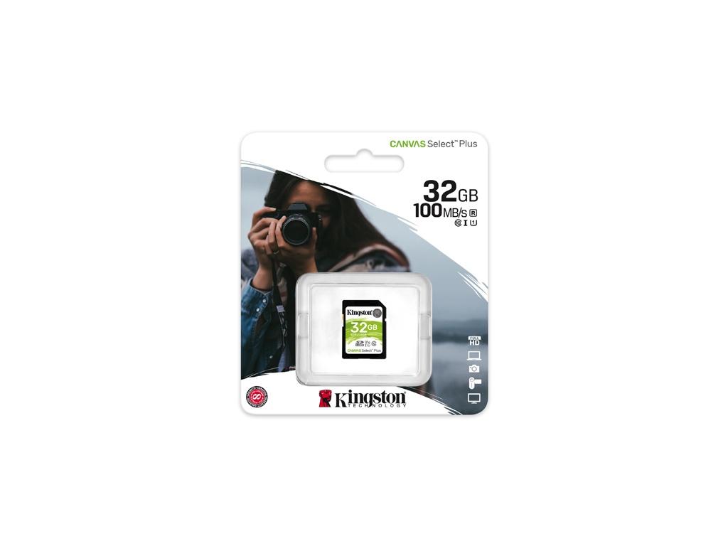 Memoria Kingston SDS2/128GB SDHC Class 10 Flash Card Canvas Select Plus