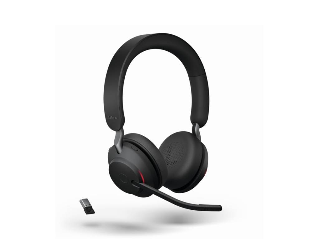 Vincha Headset Jabra Evolve2 65 Link380a MS Stereo BLACK (26599-989-999)