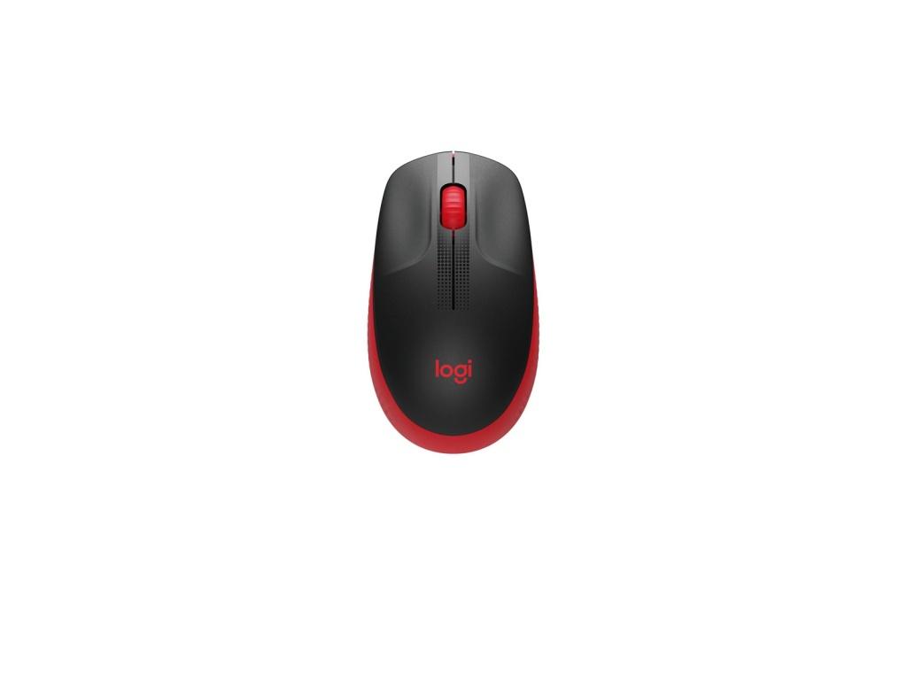 Mouse Logitech M190 Rojo Inalámbrico