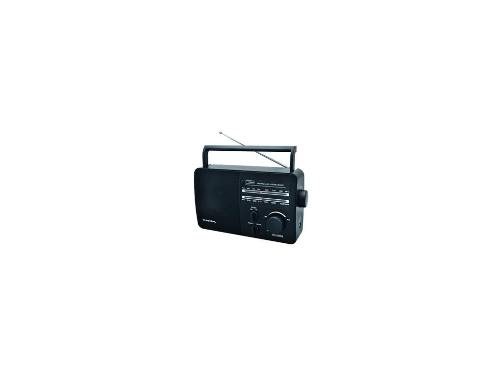 Radio Portátil Punktal PK-96AC. Corriente y pilas